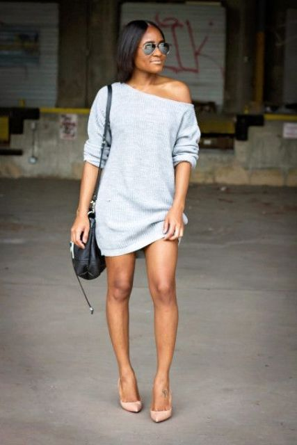 f62074c0b46 How To Style An Off The Shoulder Sweater  25 Ideas