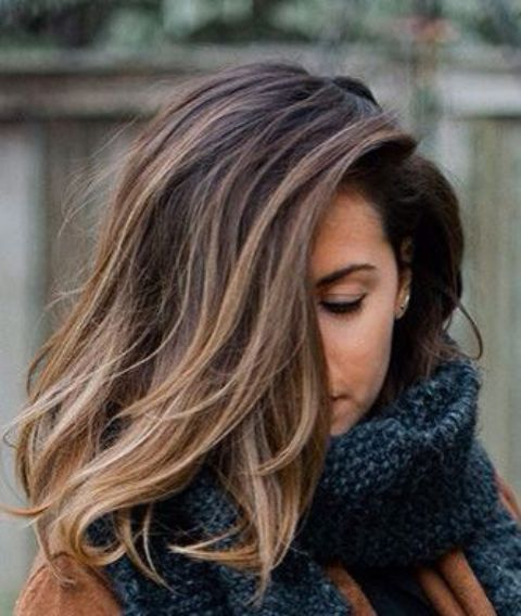 ombre brown hair from darker to lighter shades