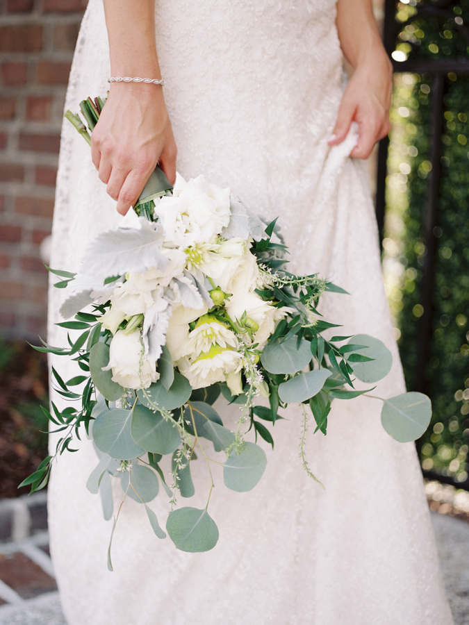 white wedding bouquets - photo by Christina Pugh http://ruffledblog.com/fall-wedding-inspiration-from-the-big-fake-wedding