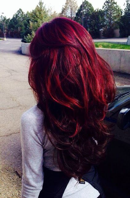 super bold long red hair to make a statement