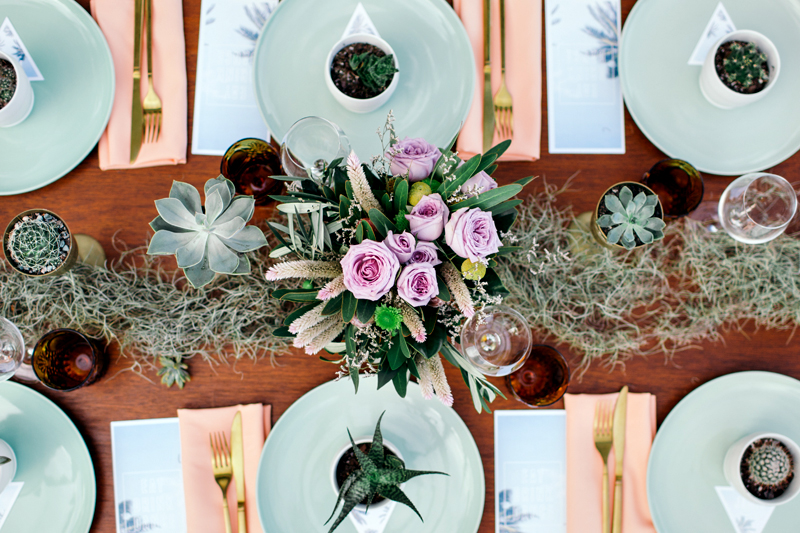 tablescape - photo by Ivy Road Photography http://ruffledblog.com/palm-springs-inspired-wedding-editorial-from-australia