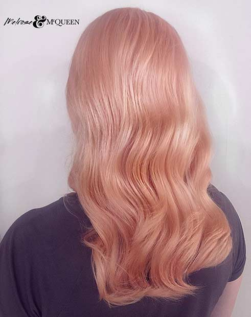 23 Trendy Rose Gold Hair Color Ideas Beauty