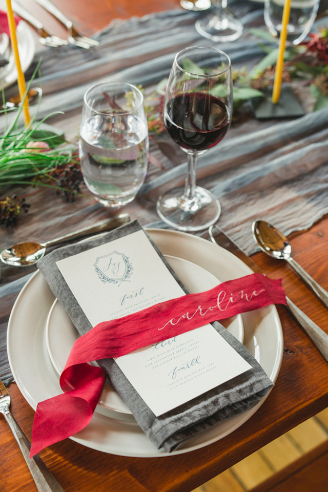 Calligraphy on ribbon   Amy Donohue Photography