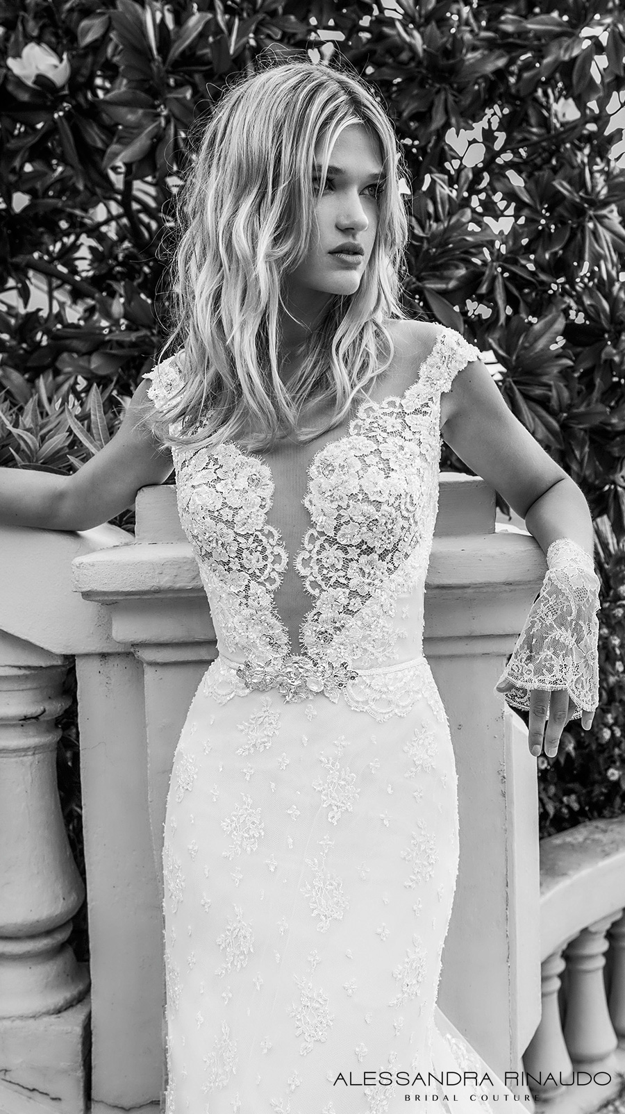 alessandra rinaudo 2017 bridal cap sleeves illusion boat deep plunging neckline full embellishment elegant sheath wedding dress illusion back royal long train (blondie) zv
