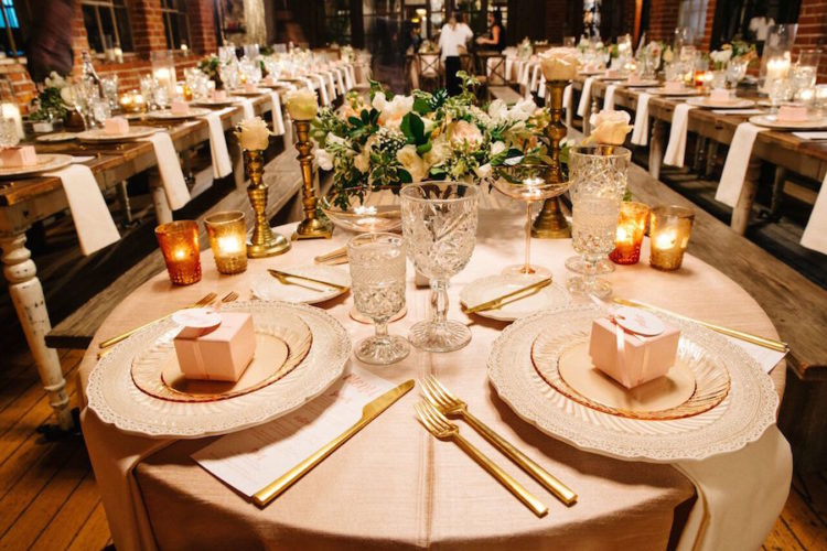The floral centerpieces were made delicate and subtle, in ivory and blush shades