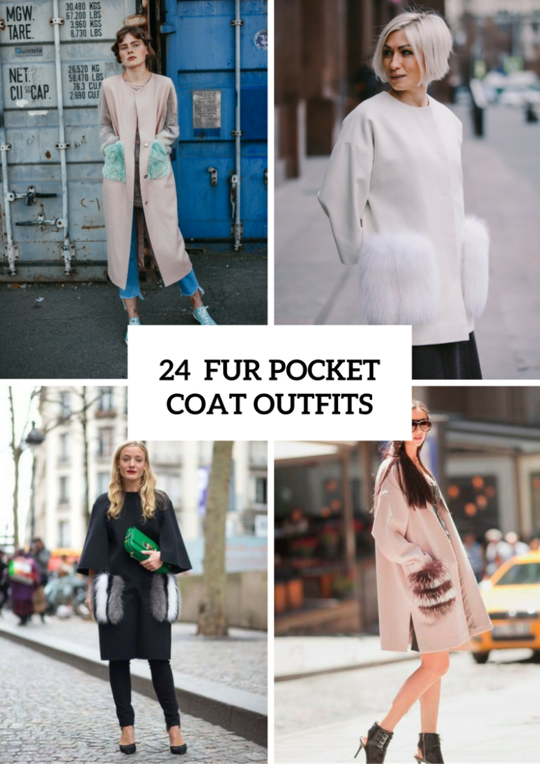 Fur Pocket Coat Outfits For Fashionistas