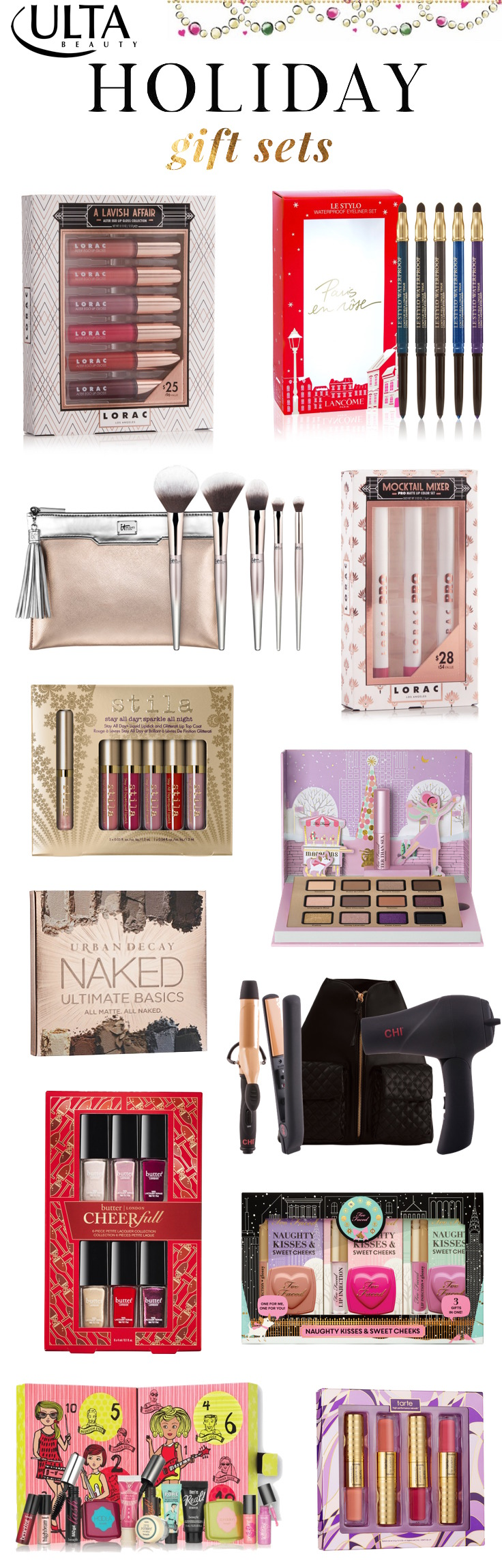 The must-have holiday 2016 gift sets at Ulta! Click through to see the full list!