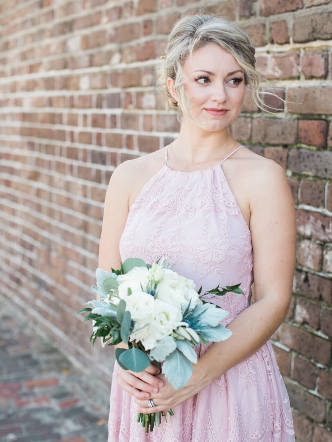 pink bridesmaid dresses - photo by Christina Pugh http://ruffledblog.com/fall-wedding-inspiration-from-the-big-fake-wedding