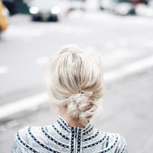 06 low messy bun is a perfect solution for a bad hair day
