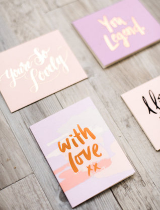 Rose gold foil lettering | We Are Origami Photography