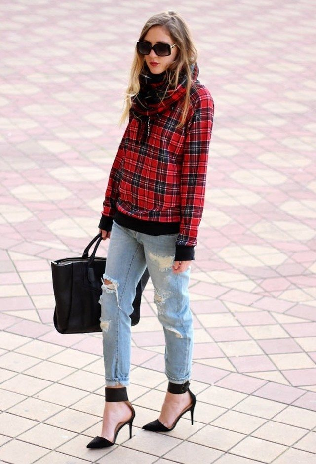 Boyfriend jeans fashion