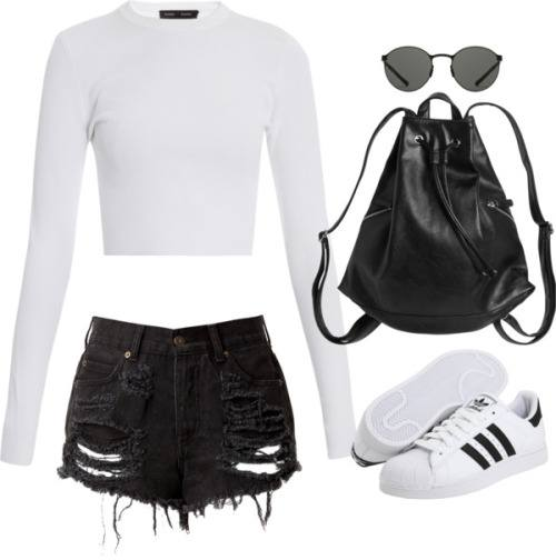 cool ways to wear outfits with adidas shoes (5)
