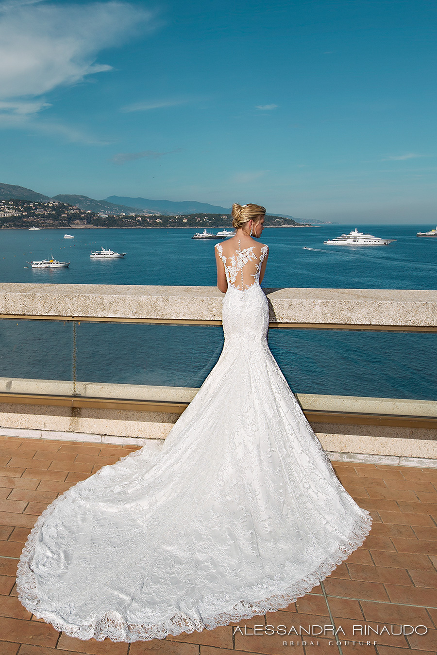 alessandra rinaudo 2017 bridal cap sleeves sweetheart neckline full embellishment elegant mermaid wedding dress illusion low back long train (berenice) bv mv