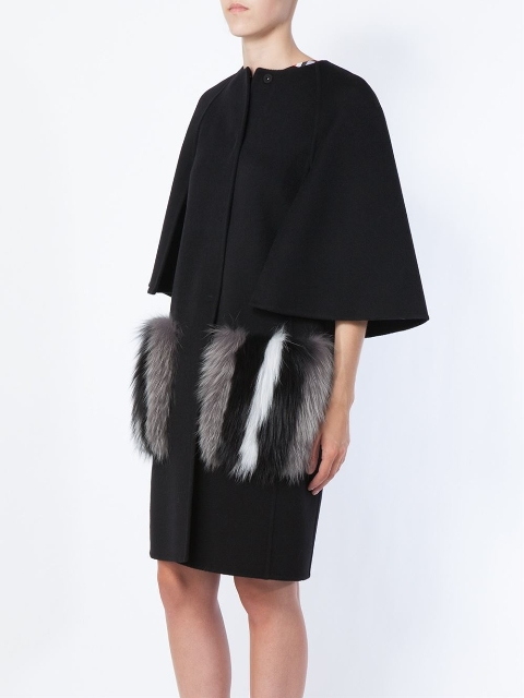 Black coat with short sleeves