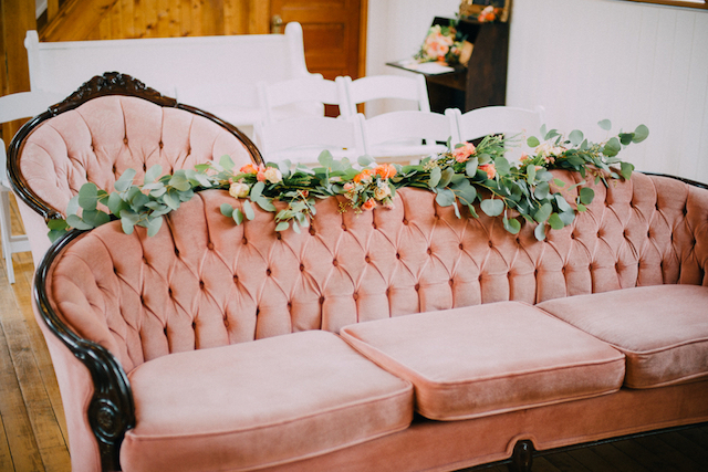 Mismatch wedding ceremony chairs | GingerSnap Photography