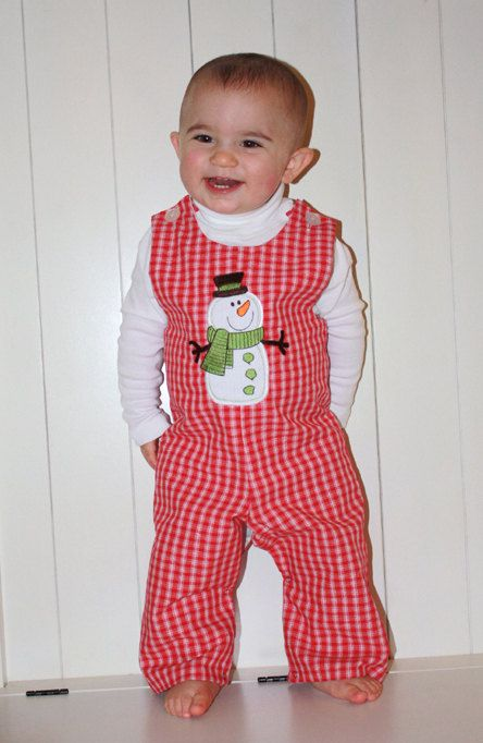 a red plaid pyjama is a great idea for the smallest ones