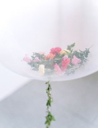 Flower-filled balloons | We Are Origami Photography