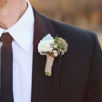 Rustic boutonniere - j.woodbery photography