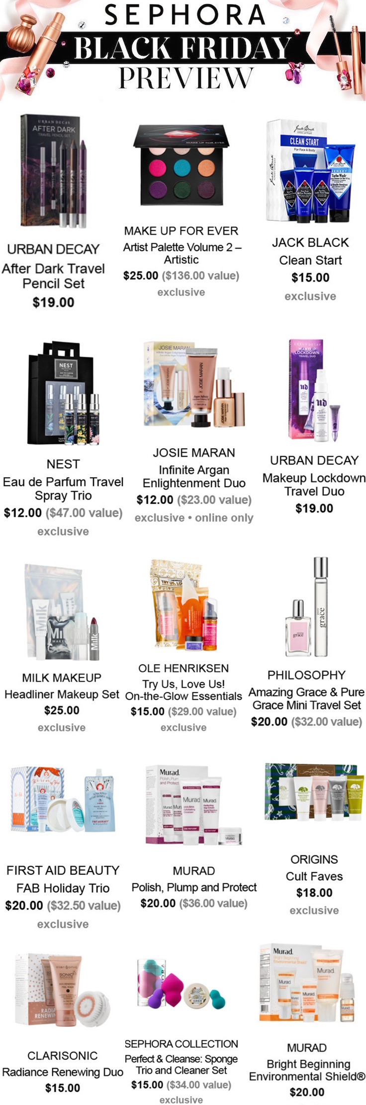 Sephora Black Friday 2016 Deals and Gift Sets