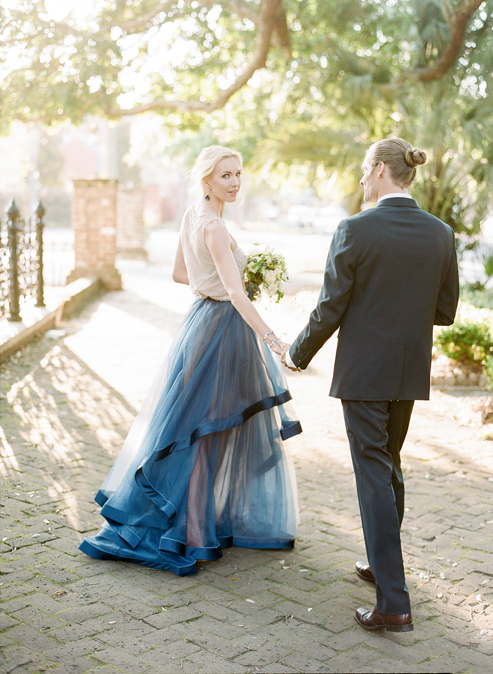 Cyanotype Inspired Wedding Ideas - photo by Lisa Blume Photography http://ruffledblog.com/cyanotype-inspired-wedding-ideas