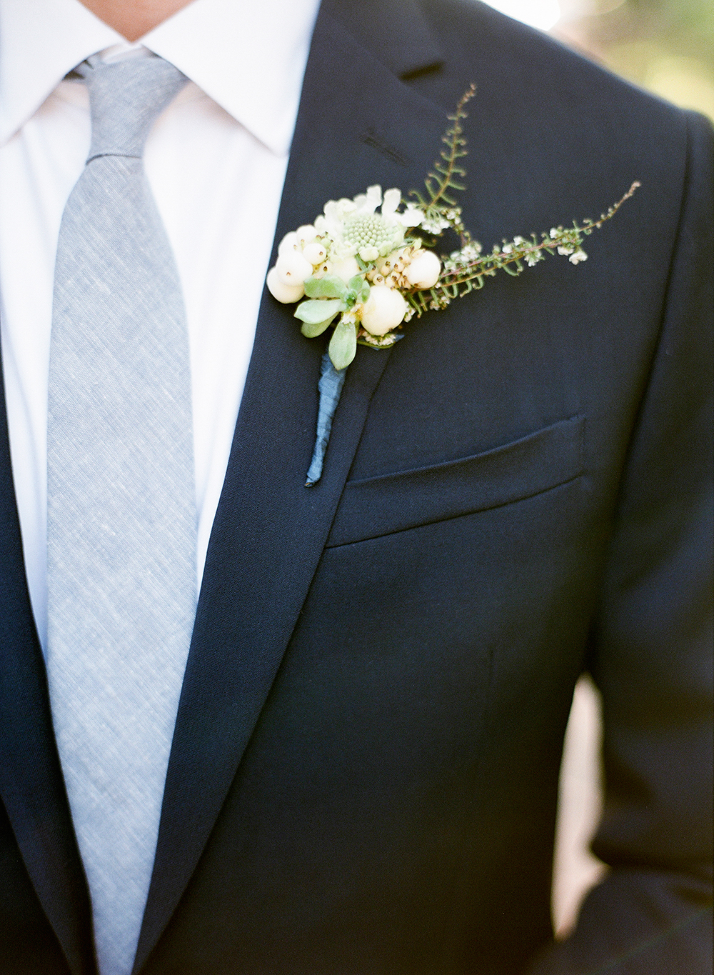 grooms boutonniere - photo by Lisa Blume Photography http://ruffledblog.com/cyanotype-inspired-wedding-ideas