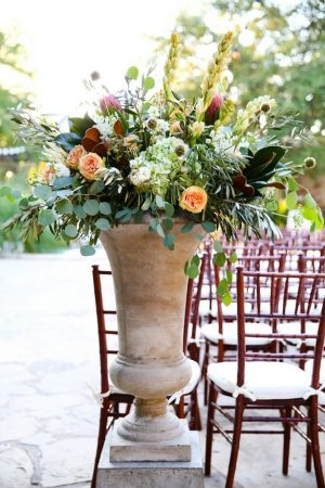 Wedding ceremony flowers - Hyde Park Photo
