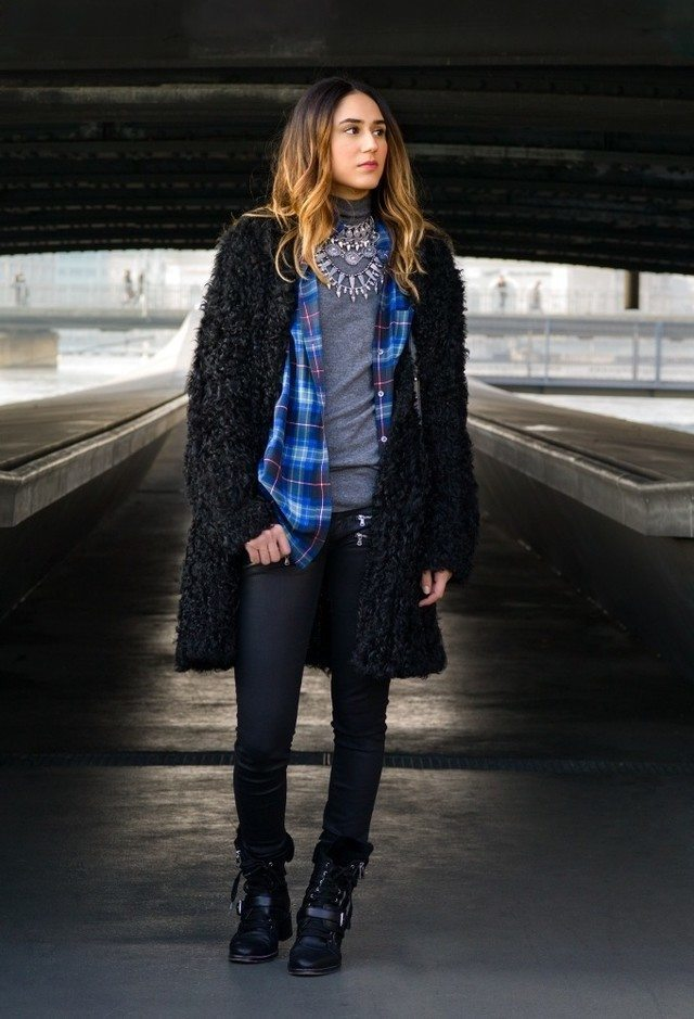 winter outfits to wear with combat boots (8)
