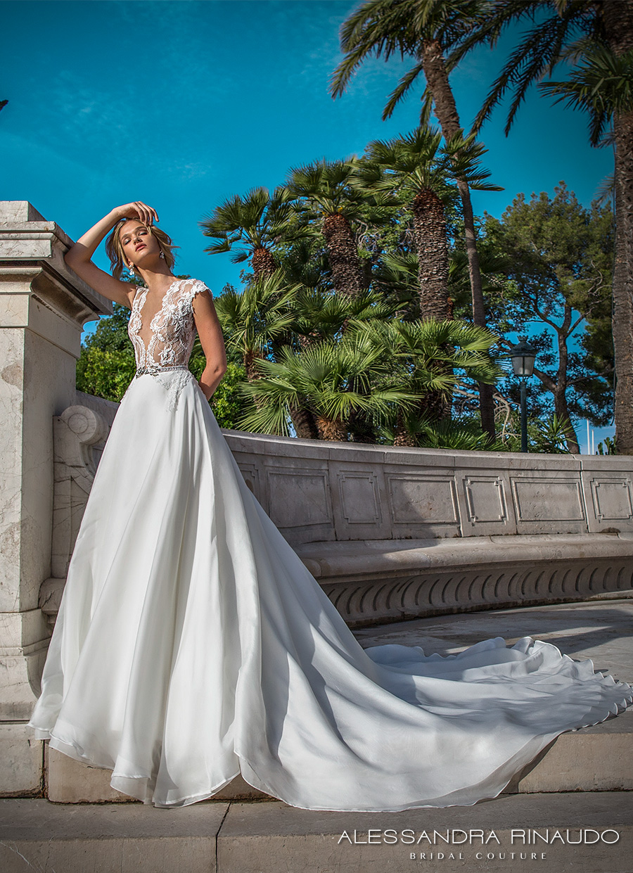 alessandra rinaudo 2017 bridal cap sleeves illusion bateau deep plunging v neck heavily embellished bodice princess romantic a ling wedding dress illusion back royal train (briseide) mv