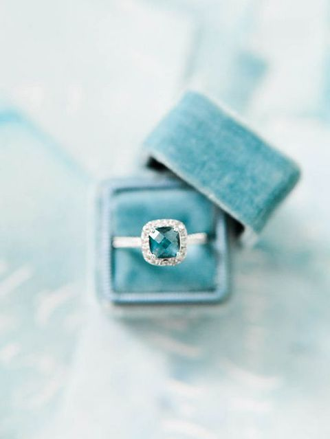 turquoise blue wedding ring