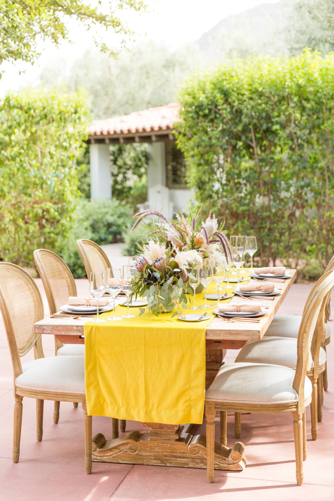 modern wedding inspiration - photo by Karlee K Photography http://ruffledblog.com/cheerful-desert-wedding-inspiration-with-bright-yellow
