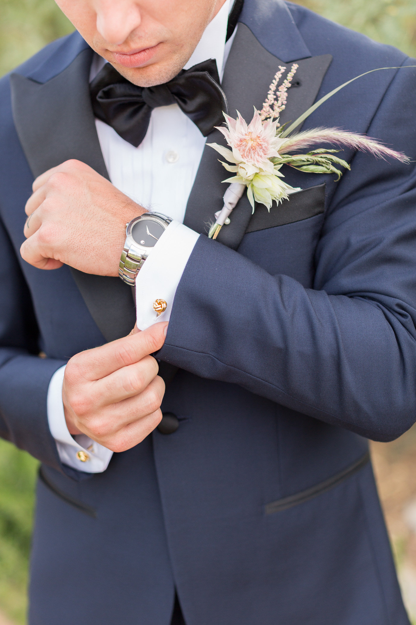 grooms accessories - photo by Karlee K Photography http://ruffledblog.com/cheerful-desert-wedding-inspiration-with-bright-yellow