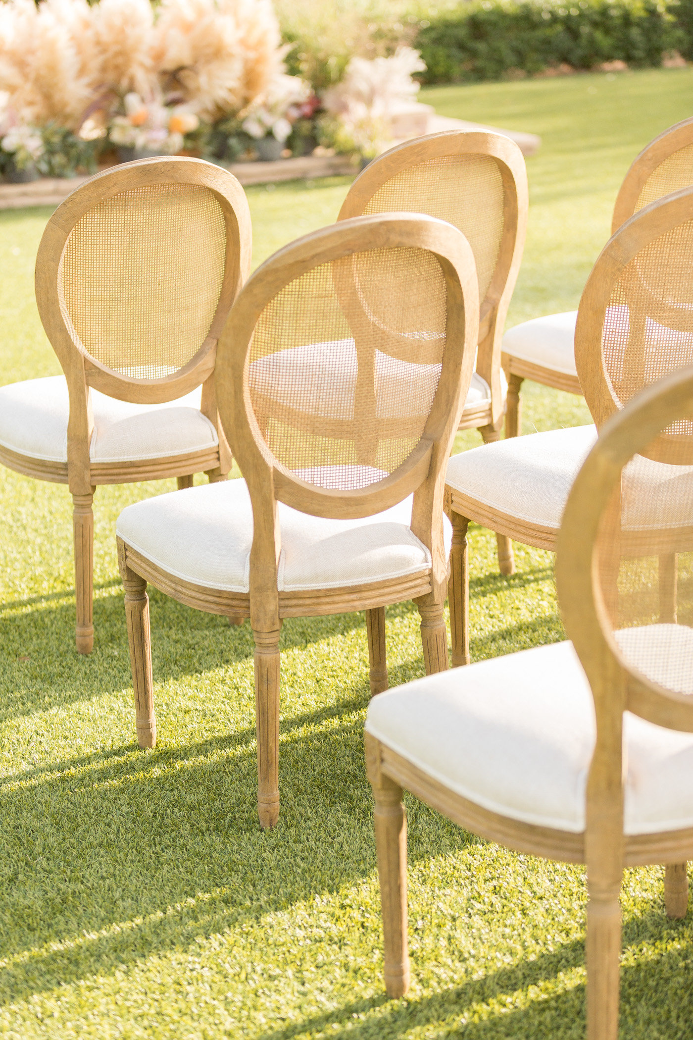 ceremony chairs - photo by Karlee K Photography http://ruffledblog.com/cheerful-desert-wedding-inspiration-with-bright-yellow