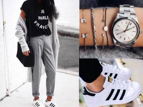 cool ways to wear outfits with adidas shoes (11)