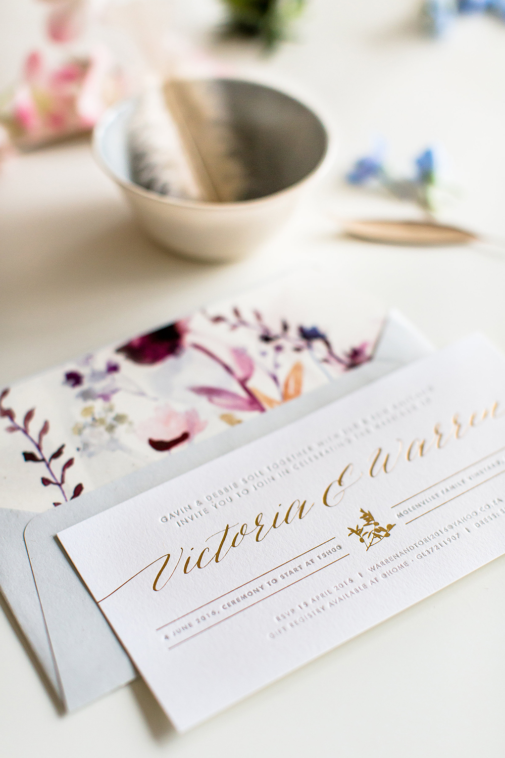 wedding stationery - photo by Wesley Vorster http://ruffledblog.com/modern-chic-boho-fall-wedding-inspiration
