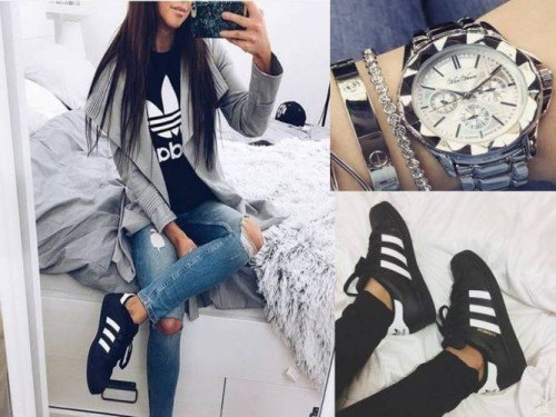 cool ways to wear outfits with adidas shoes (15)