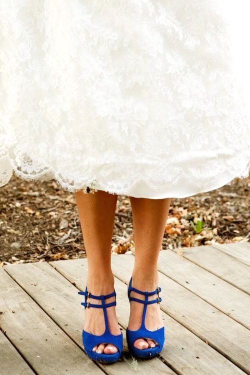strap cobalt blue wedding shoes
