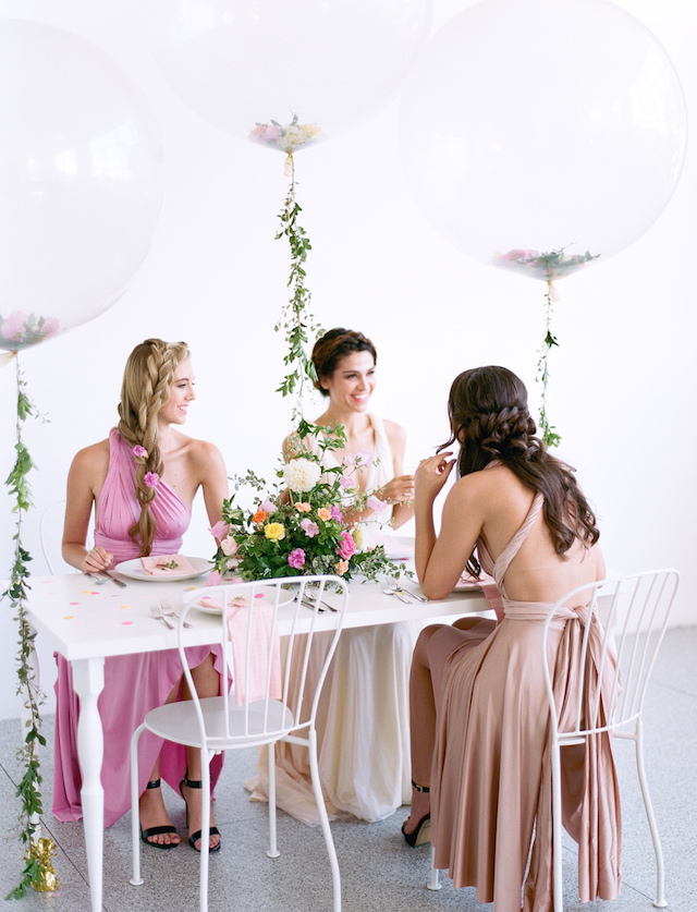 Floral themed bridal shower | We Are Origami Photography