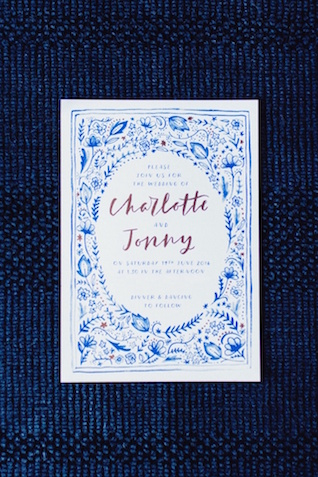 Embroidered style wedding invitations | Justina Bilodeau