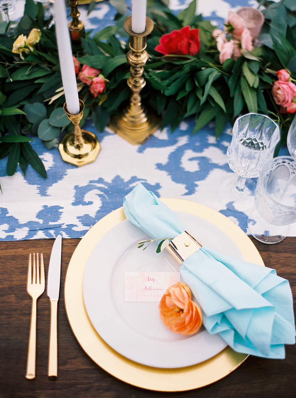 colorful tablescape - photo by Jen Rodriguez http://ruffledblog.com/cheerful-san-luis-obispo-wedding