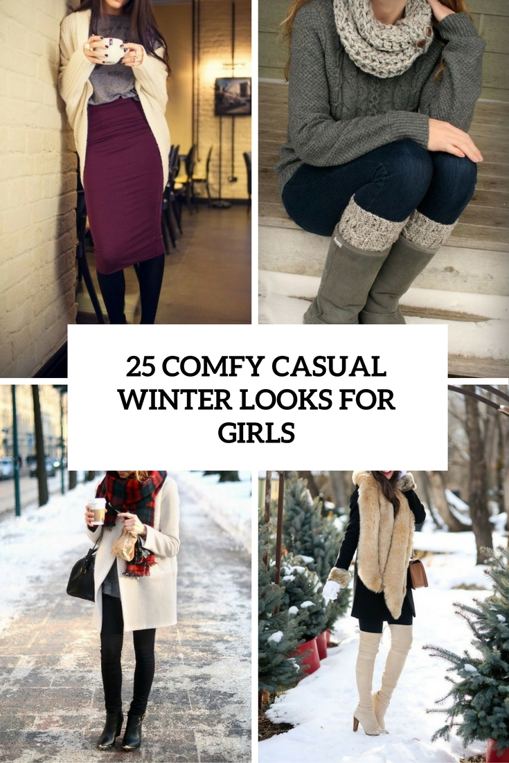 comfy casual winter looks for girls cover