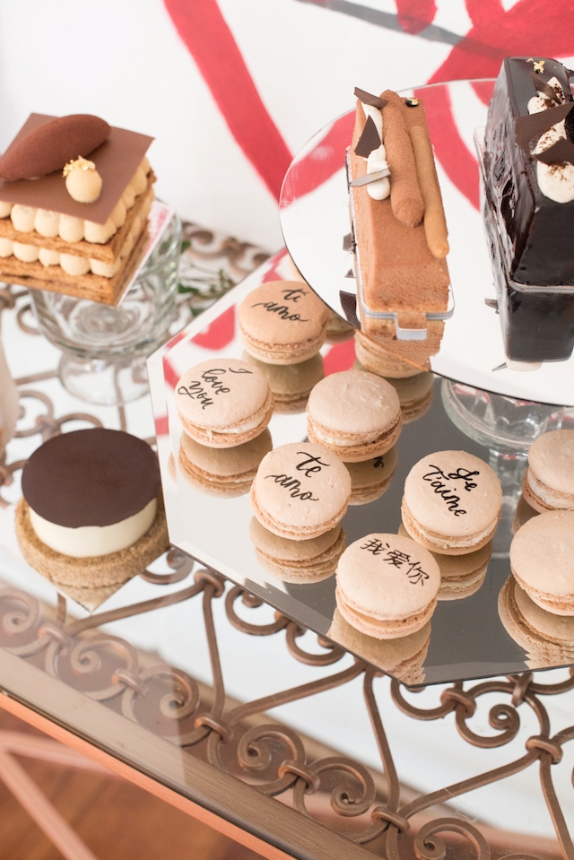 Hand-painted macarons | Mikkel Paige Photography