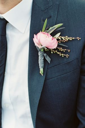 Pink boutonniere - Sharon Nicole Photography