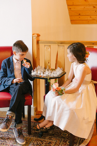 Ring bearer and flower girl | GingerSnap Photography