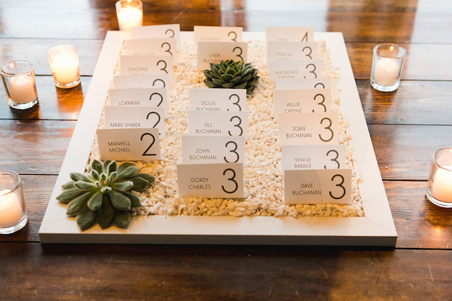Modern place cards | Gucio Photography