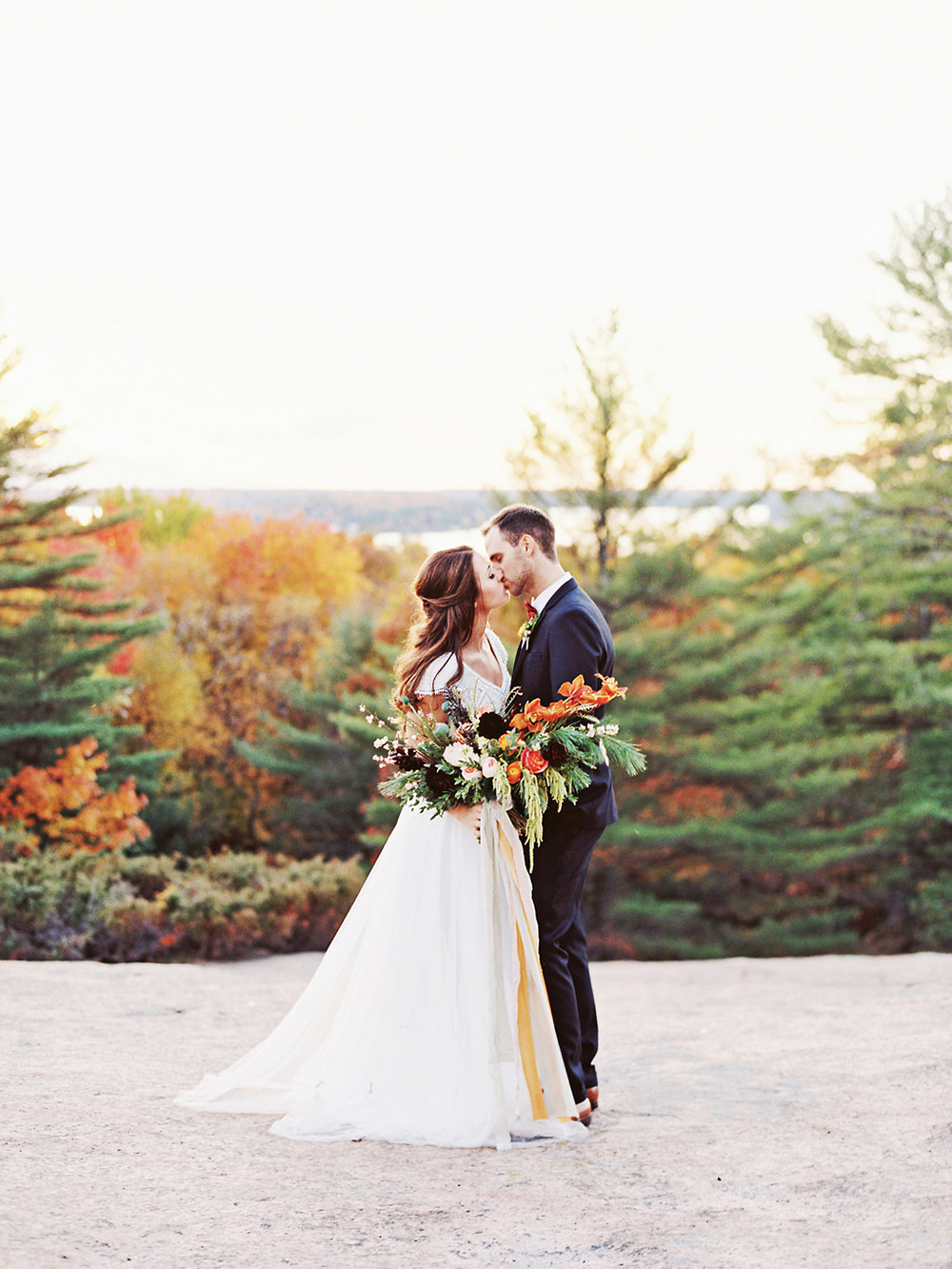 Romantic Elopement Inspiration with Rich Colors - photo by Evelyn Barkey Photography http://ruffledblog.com/romantic-elopement-inspiration-with-rich-colors