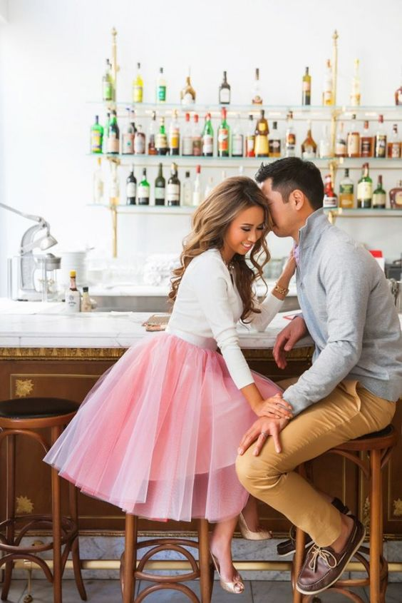 a white sweater and a pink tutu is always a win-win idea