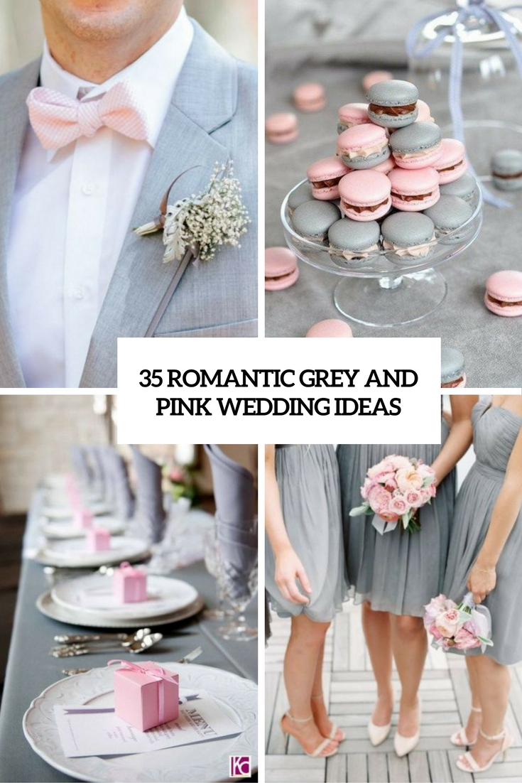 romantic grey and pink wedding ideas cover