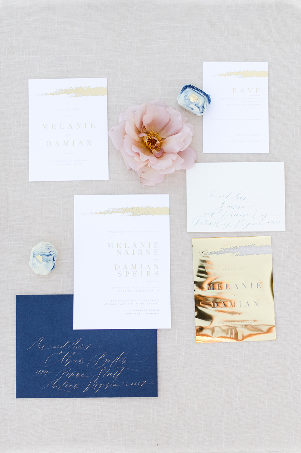 wedding stationery - photo by Jenny B Photos http://ruffledblog.com/ethereal-wedding-inspiration-with-vintage-accents