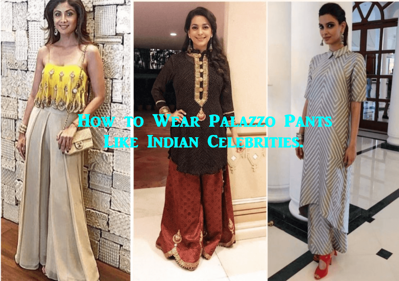 indian bollywood actresses palazzo pant outfits