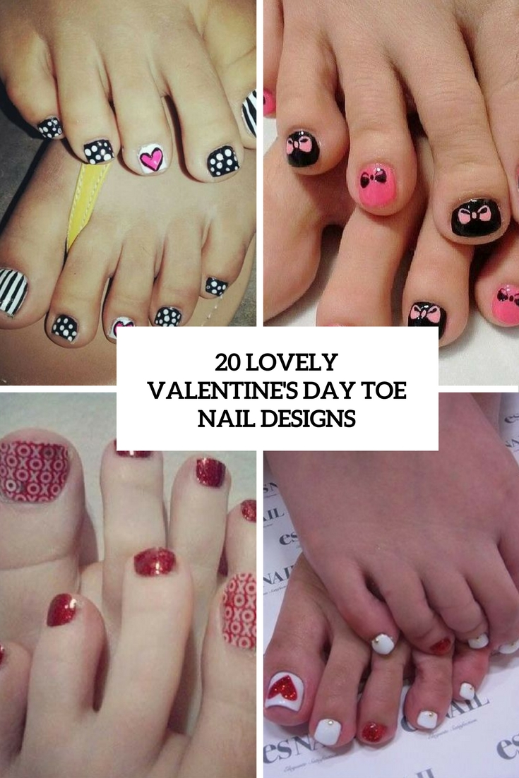 lovely valentine's day toe nail designs cover